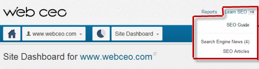 Learn SEO with Web CEO Online