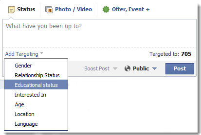 target your facebook post