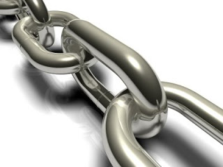 Close view of links in a chain