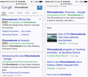 new google interface