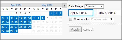 GA range date filter