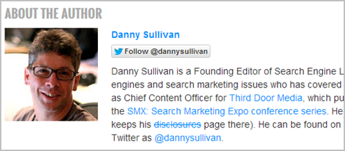 Danny Sullivan author rank