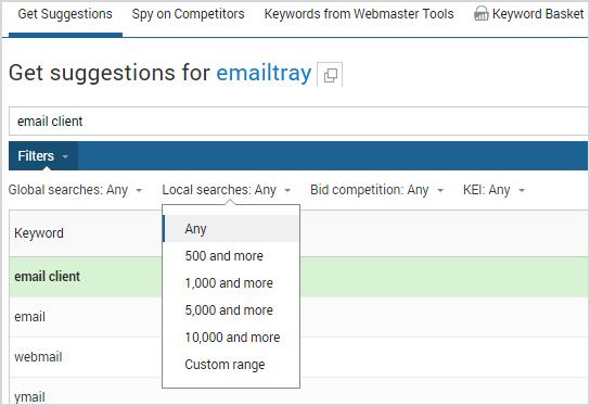 Keyword-research-filter-settings
