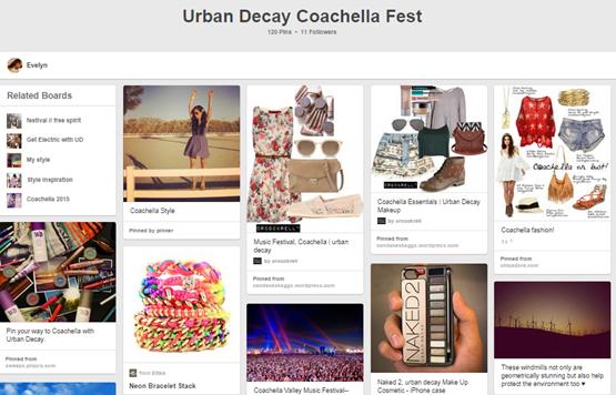 Urban Decay Coachela fest