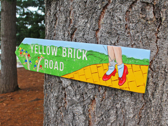 yellow brick road in social media
