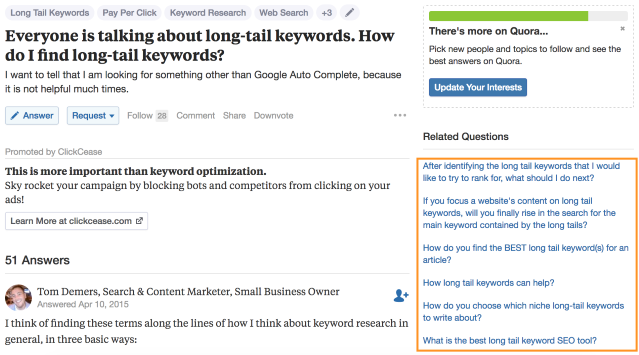 How to find long tail keywords with free tools
