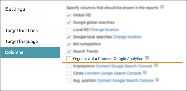 WebCEO allow using Google Analytics for SEO.