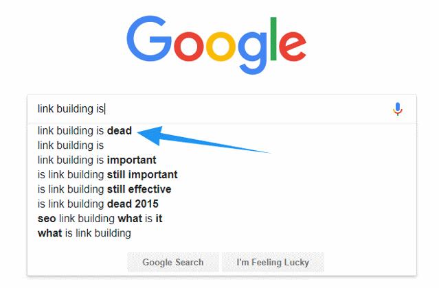 Link building is dead?