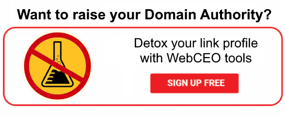 Sign up, remove toxic backlinks and raise your domain authority!