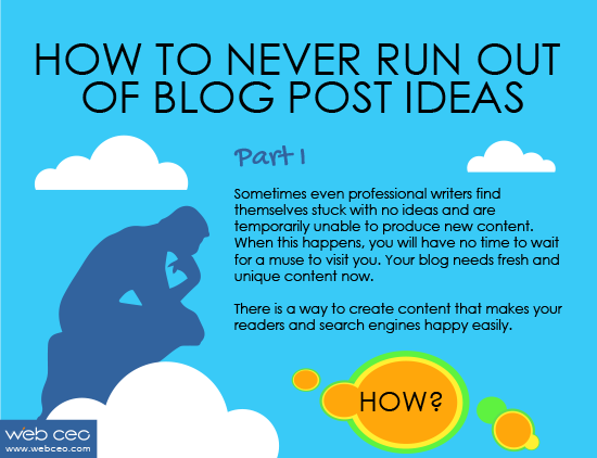 webceo helps you to find blog post ideas